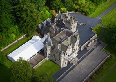 kinettles castle drone shot 1