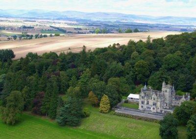 kinettles castle drone shot 2
