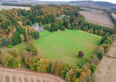 kinettles castle drone shot 3