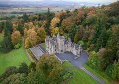 kinettles castle drone shot 4